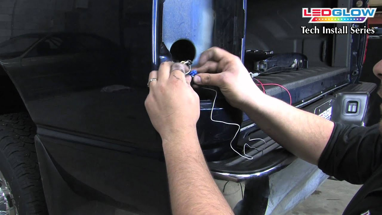 Ledglow How To Install An Tailgate Light Bar With Reverse 2003 Dodge Ram 7 Pin Trailer Wiring Diagram Lights For Trucks Youtube