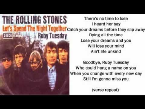 The Rolling Stones - Ruby Tuesday (+ lyrics 1967)