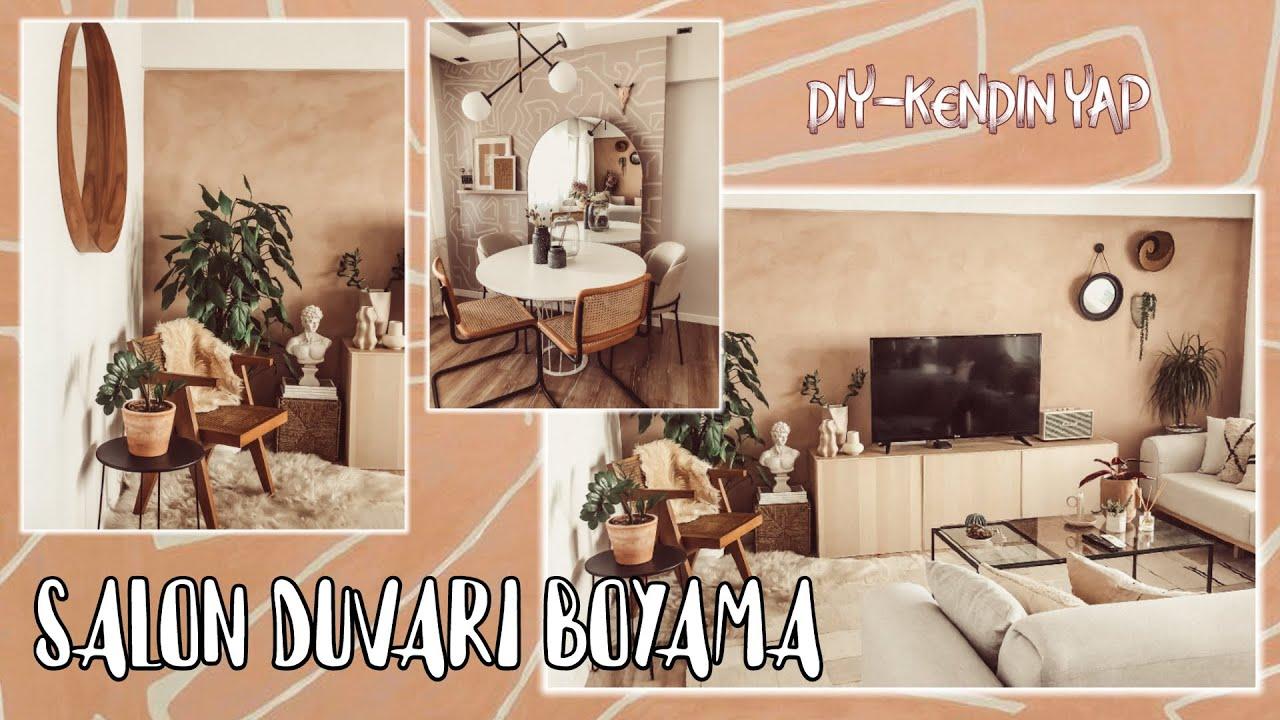 SALON DUVARIMI BOYADIM! Cozy / Bohem / Dekorasyon Fikirleri - Ersin Dogan Home