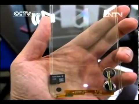 Taiwan unveils transparent mobile phone