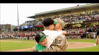Members of the military return home to reunite with their families.