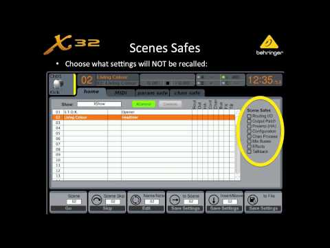 X32 Live! Webinar: Scene & Preset Management