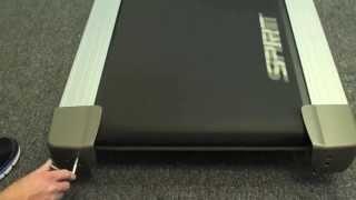 видео Регулировка полотна беговой дорожки – натяжение и центровка