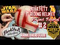 How to Airbrush a Boba Fett Helmet. Video 2 Laying in the Colors