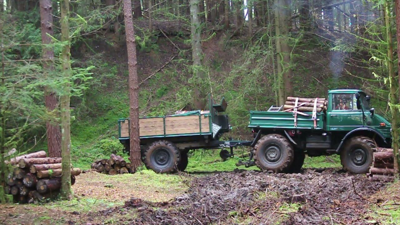 Download Unimog 406 Schlammschlacht beim Holzholen