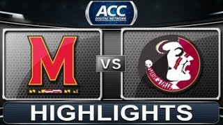 Maryland vs Florida State | 2013 ACC Football Highlights