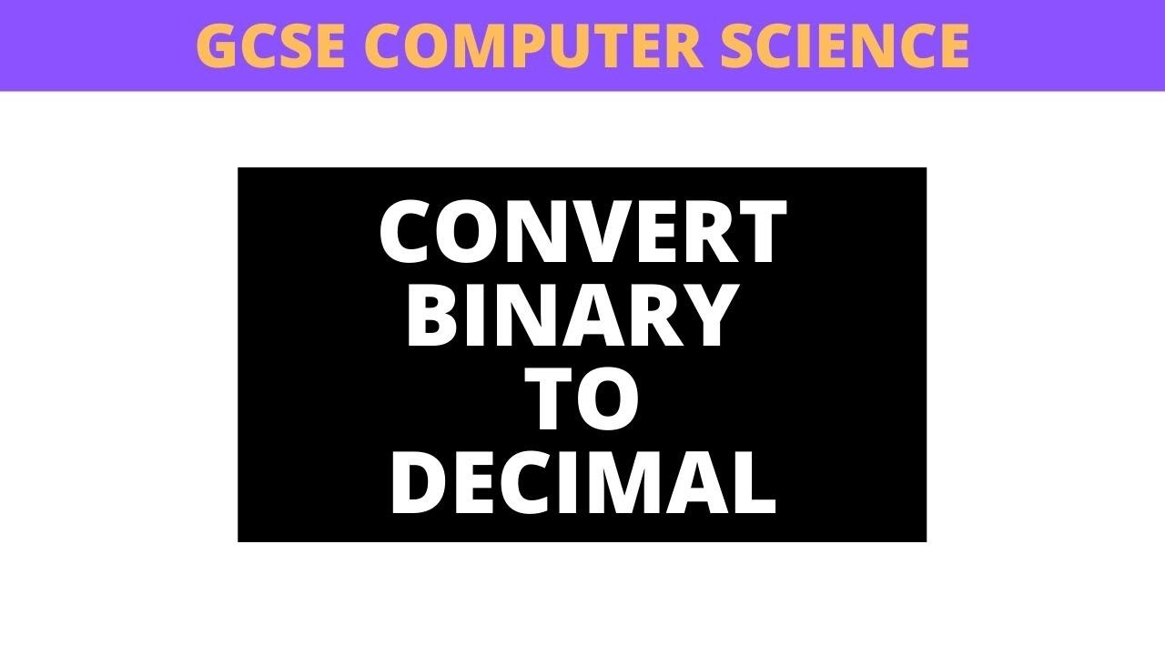 Binary: converting decimal to binary (part 1 of 2) - YouTube