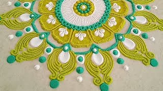 Beautiful Rangoli Design with 3 colours | Rangoli for Shivratri