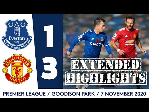 EXTENDED HIGHLIGHTS: EVERTON 1-3 MAN UNITED