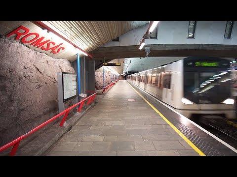Norway, Oslo, Metro Ride From Romsås To Stovner, 1X Elevator