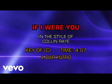Collin Raye - If I Were You (Karaoke)