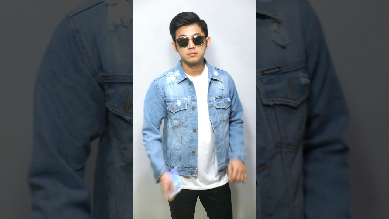 Jaket Denim Sobek Pria Trucker Ripped - Soft Blue - Video ...
