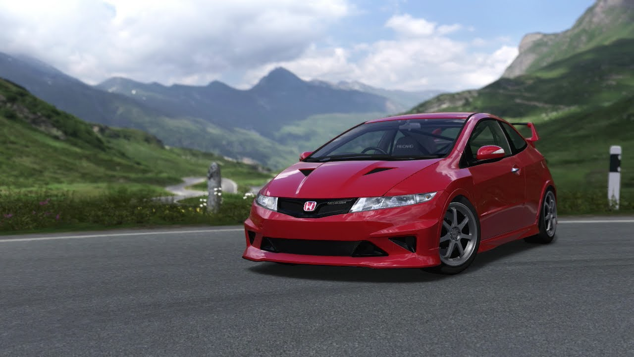 forza motorsport 4 my 2010 honda mugen civic type r 3d on the one mile 480 horsepower youtube. Black Bedroom Furniture Sets. Home Design Ideas