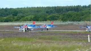 4 x eis aircraft pilatus pc 9b take off from ekrn