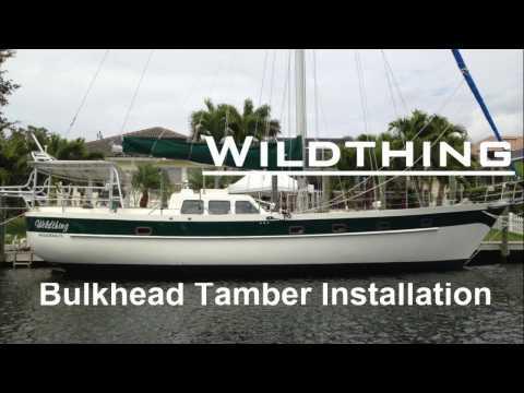 Installation of Salon and Pilot House Bulkhead Tambour