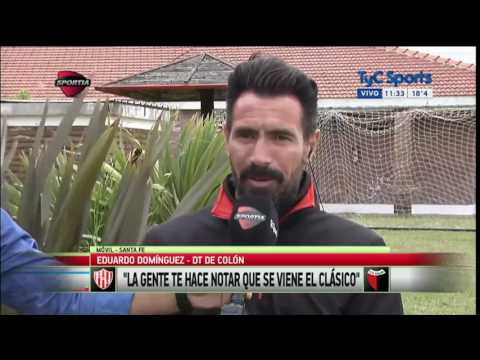Eduardo Domínguez Llegamos bien y con mucha confianza al Clásico