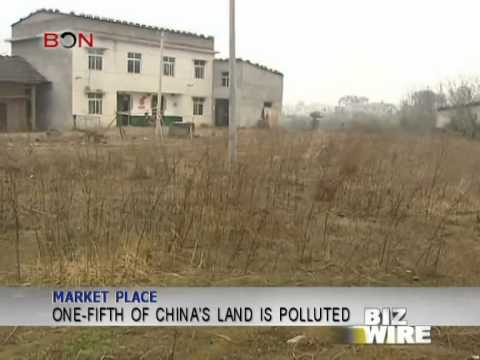One-fifth of China's land is polluted - Biz Wire - April 21,2014 - BONTV China