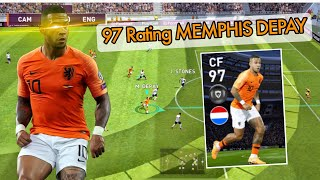 Review Featured Player  CF 97 Rating MEMPHIS DEPAY - Pes 2020 Mobile