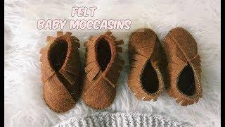 DIY FELT BABY MOCCASINS