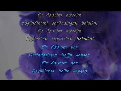 Osman Navruzov - Do'stim karaoke music