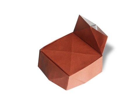 Cách gấp, xếp cái ghế bằng giấy origami - Video hướng dẫn