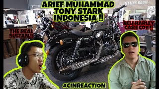Gambar cover ARIEF MUHAMMAD REAL TONY STARK INDONESIA?!! REACTION ARIEFMUHAMMAD BELI HARLEY ! #CINREACTION