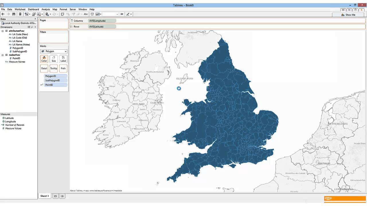 Using Tableau Polygon Tde