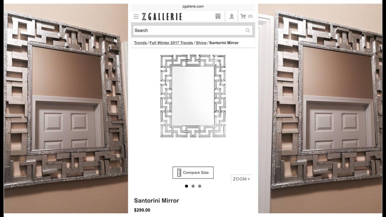 Dollar Tree Diy Z Gallerie Inspired Wall Mirror