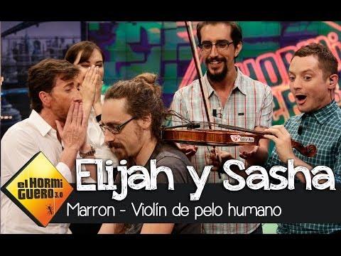 Sasha Grey y Elijah Wood toca un violín con pelo humano en El Hormiguero 3.0