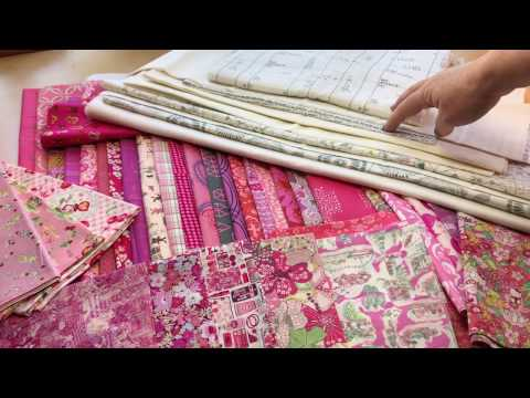 Selecting Fabrics for Scrap Quilts: Pink and White