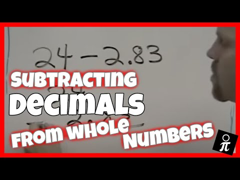Subtracting Decimals From A Whole Number Youtube
