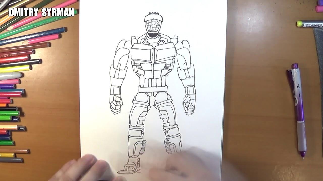 Speed Drawing Robot Atom Real Steel