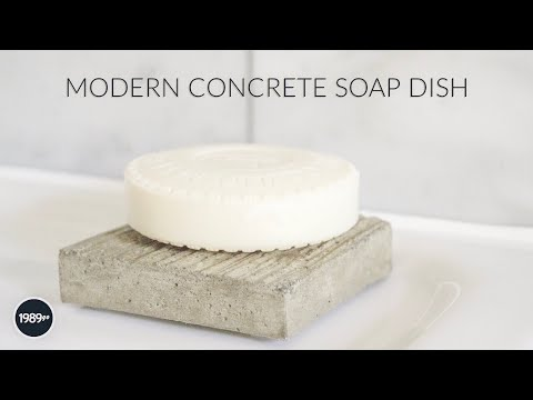 Modern Concrete Soap Dish DIY