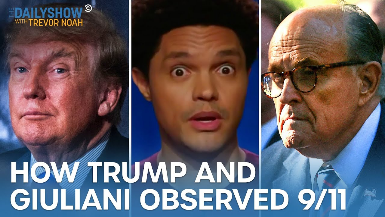 Download Trump & Rudy Giuliani Mark 9/11's 20th Anniversary in the Weirdest Ways Possible   The Daily Show