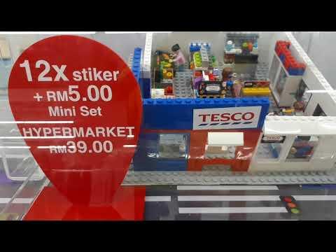 My Tesco Malaysia Brick Set Lego 2017 Campaign Full Display Set