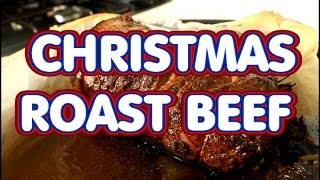Roast beef for Christmas dinner or Sunday dinner