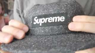 New pick up: Supreme Black herringbone donegal 5 panel camp cap and Ave Mary tee review