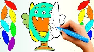 Learn Colors for Kids Children Toddlers with Colored Markers and Stikeez Coloring Pages