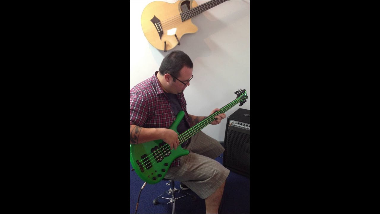 Rod Bustos Dr Strings Neon Green Warwick Corvette 8
