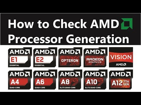 How to Check AMD Processor Generation || A4 A6 A8 A10 APU