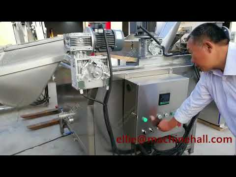 Automatic Banana  Chips Frying Machine|Plantain Chips Fryer Equipment Working Video