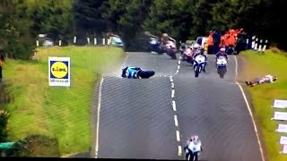 Ulster GP 2014 - Jumps and Crash at 180mph 290kmh