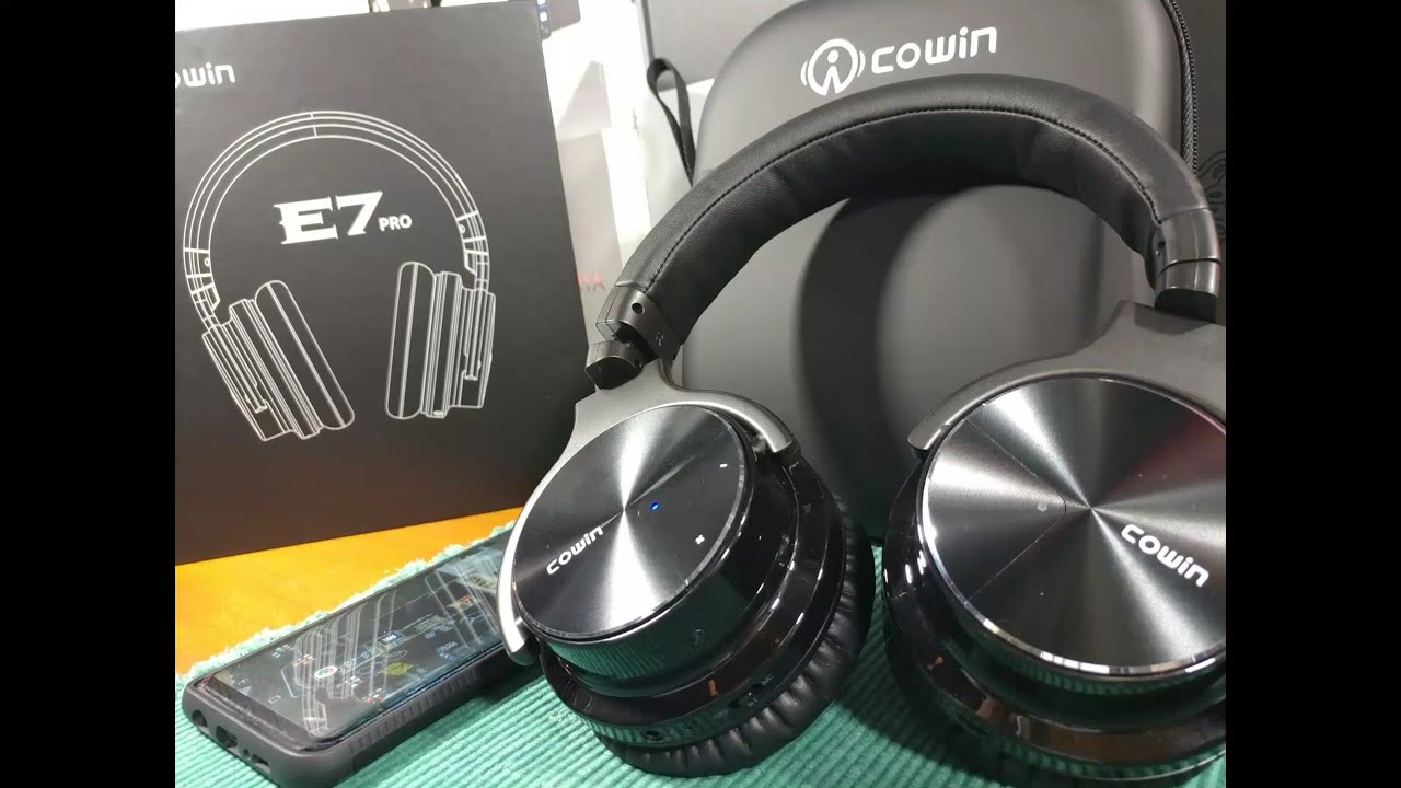 Cowin E7 Pro (Updated 2018) Noise Cancelling Headphones Bluetooth or Wired