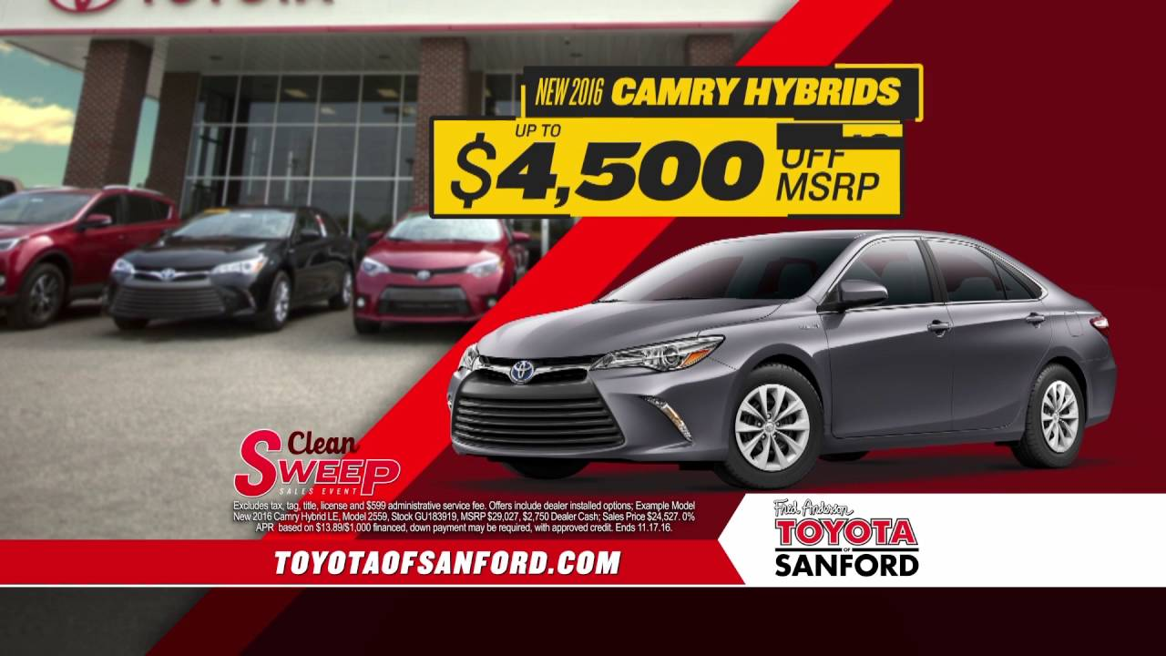 Fred Anderson Toyota Of Sanford   Clean Sweep
