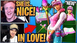 Streamers LOVE the *NEW* Pastel Skin, Sprout Pickaxe & Spring Party Wrap! - Fortnite Moments