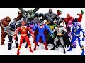 Power Rangers & Marvel Avengers Toys Pretend Play   SPIDER HULK & BATMAN vs Villains