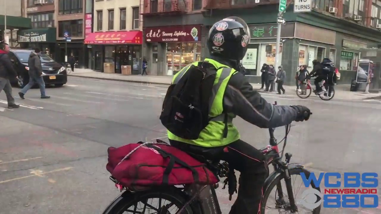 Nyc E Bike Food Delivery Crackdown Youtube