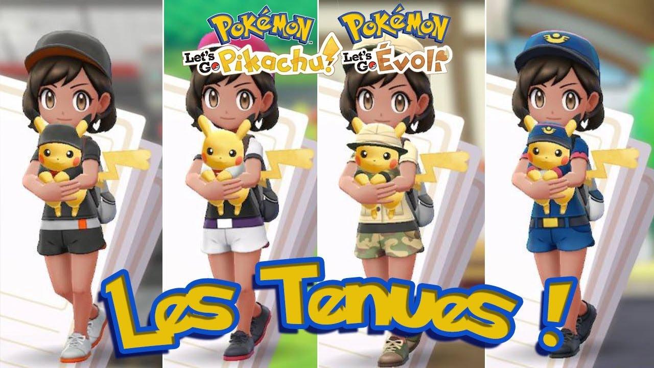 factory chaussures de sport lisse Pokémon Let's Go, Pikachu et Évoli : Obtenir toutes les tenues