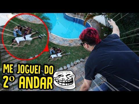 Download Youtube: EU ME JOGUEI DO SEGUNDO ANDAR!! - TROLLANDO AMIGAS [ REZENDE EVIL ]