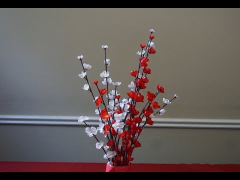 How to make paper flowers cherry blossoms youtube how to make paper flowers cherry blossoms mightylinksfo